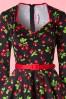 Pinup Couture Long Sleeve Heidi Black Cherry Swing Dress 102 14 15387 20150131 0005V