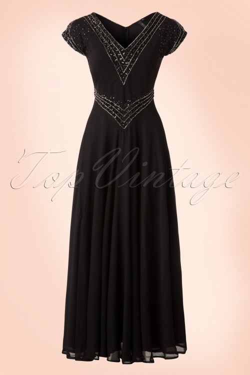 Bunny Black Long Sequin Party Dress 108 10 19559 20161201 0005W