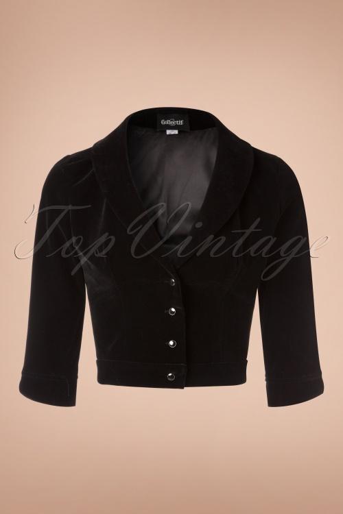 Collectif Clothing Maril Velvet Black Jacket 141 10 18865 20161202 0003w