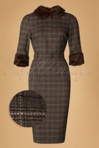 Collectif Clothing Christiane Faux Fur Trim Pencil Dress 18935 20160531 0003wv