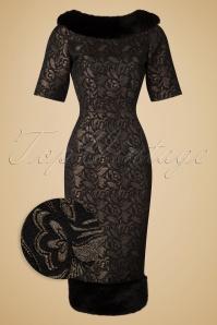 Collectif Clothing Juliette Jacquard Pencil Dress  18936 20160531 0016wv