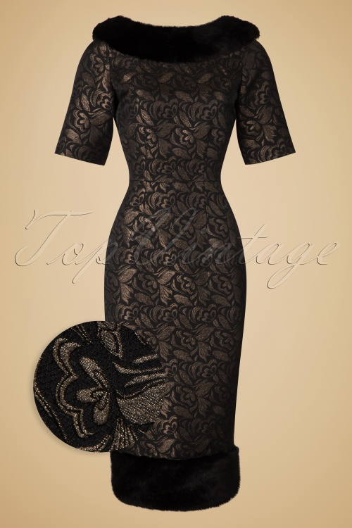 Collectif Clothing Juliette Jacquard Pencil Dress  18936 20160531 0016wv