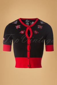 Dancing Days by Banned Black and Red Tattoo Cardigan 140 10 19771 20161205 0002W   kopie