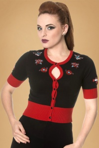 Dancing Days by Banned Black and Red Tattoo Cardigan 140 10 19771 20161205 1