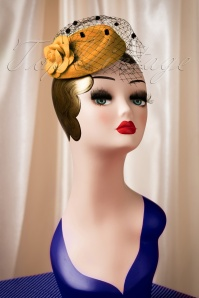 50s Jemima Wool Hat in Mustard