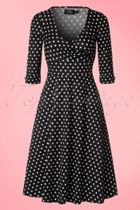 Dolly and Dotty Katherine Black and White Polkadot Swing Dress 102 14 20060 20161207 0005W