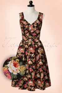 Dolly and Dotty May V Neck Floral Dress 102 14 20059 20161207 0010 pop