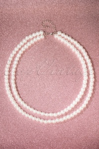 50s Two Tier Pearl Necklace in Ivory