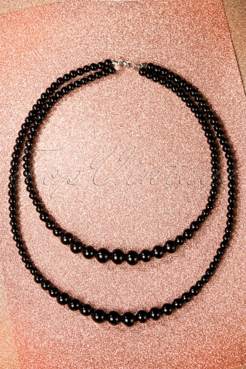 Collectif Clothing Two Tier Necklace in Black 300 10 20327 12062016 002W