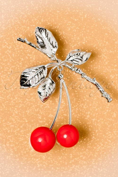 Collectif Clothing Cherry Branch Brooch 342 20 20311 12062016 020W