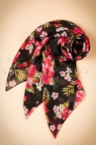 ZaZoo Black Floral Scarf 240 14 20632 12072016 025W