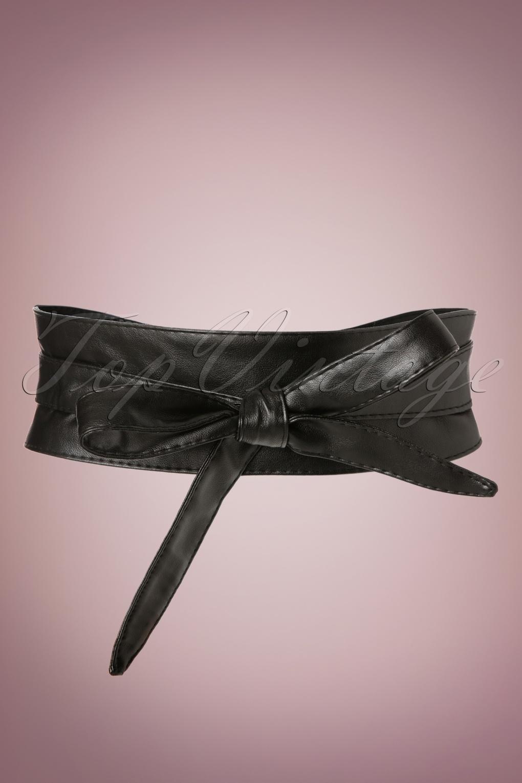 50s obi wrap belt in black. Black Bedroom Furniture Sets. Home Design Ideas