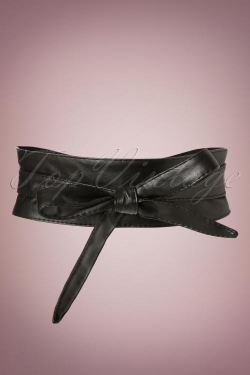 Collectif Clothing Obi Belt in Black 230 10 20310 12062016 004W