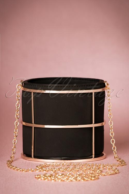 La Parisienne Black Gold Clutch 216 10 20760 12122016 006W