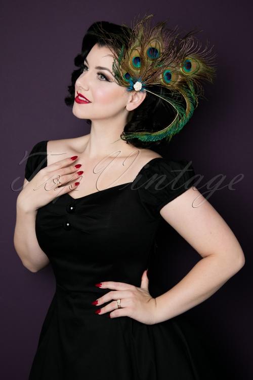 Unique Vintage Peacock Feather Hairclip 200 49 20573 11162016 060W