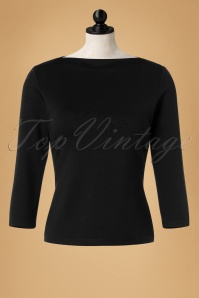 60s Bardot Top in Black