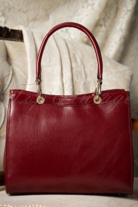 60s Sadie Classy Red Leather Handbag