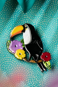 TopVintage exclusive ~ Toco Of The Tropics Brooch Années 60