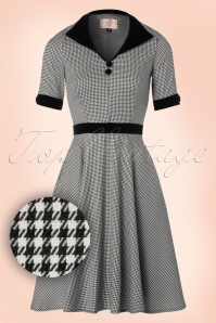 Dancing Days by Banned Swept off Houndstooth Black and White Semi swing Dress 19726 20161110 0008W1