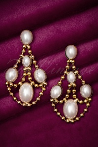 30s Myrtle Pearly Earrings in Gold
