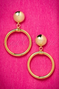 TopVintage exclusive ~ 50s Bad Girl Gold Plated Hoops Earrings