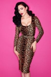 Vixen by Micheline Pitt The Vixen Wiggle Dress in Leopard Print 100 79 20689 7