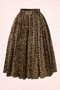 Vixen by Micheline Pitt Vixen Leopard Swing Skirt 122 79 20383 20161219 0011W
