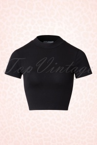Vixen by Micheline Pitt Bad Girl Black Crop Top 110 10 20680 20161219 0004W