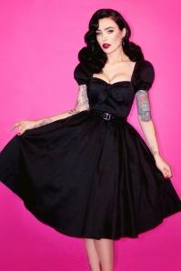 Vixen by Micheline Pitt Black Swing dress 102 10 20683 20161219 model01
