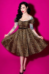 Vixen by Micheline Pitt Vixen Leopard Swing Dress 102 79 20686 20161219 2