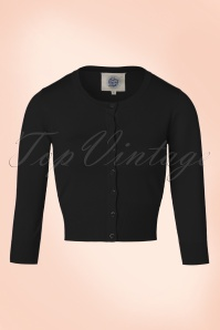 50s Pretty Crew Cardi in Black