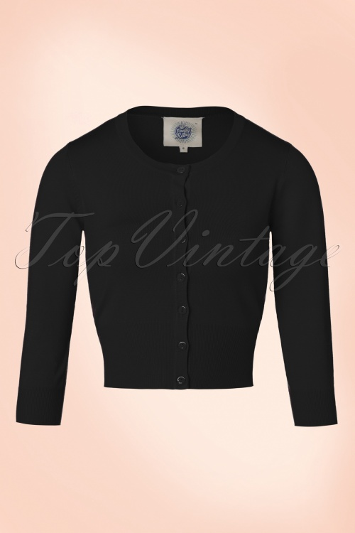Pretty Retro Pretty Black Crew Cardigan 140 10 20052 20170103 0014W