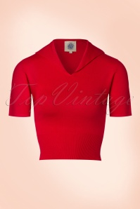 50s Karin Retro Sweater in Red