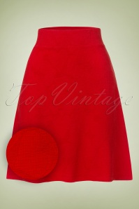 60s Lovely Love Hearts Skirt in Red