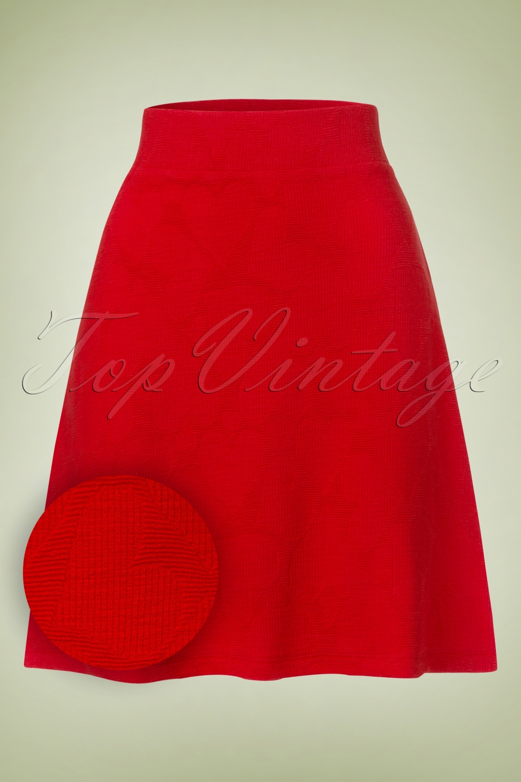 Retro Skirts: Vintage, Pencil, Circle, & Plus Sizes 60s Lovely Love Hearts Skirt in Red £38.18 AT vintagedancer.com