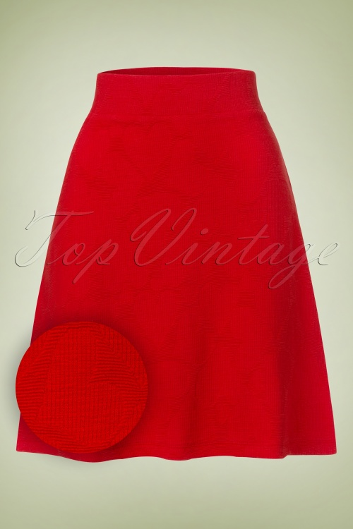 1Who's That Girl Red Hearts Skirt 123 20 19795 20170103 0003W