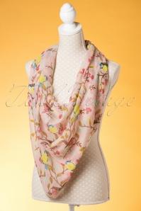 Kaytie Pink birds scarf 240 29 18331 02292016 008W