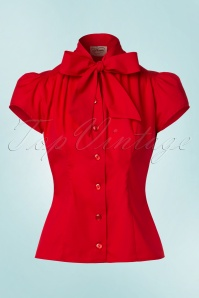 Heart of Haute Estelle Red Bow Top 112 20 20006 20170112 0004W