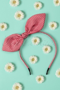 Banned Retro 50s Riley Hair Band in Red and White