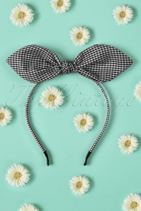 Dancing Days by Banned Black White Checked Headband 208 27 21087W