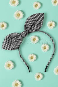 50s Riley Hair Band in Black and White