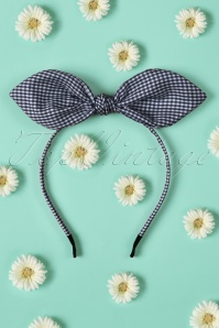 Dancing Days by Banned Blue White Checked Headband 208 27 21088W