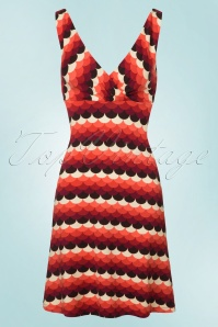 70s Ginger Frisky Dress in Rumba Red