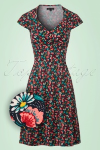 King Louie Gina Dress with Flowers  106 39 20194 20170110 0002wv