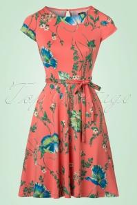60s Betty Frivoli Dress in Peach Pink