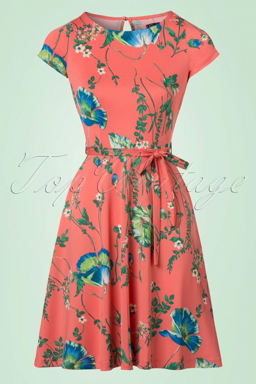 60s Betty Frivoli Dress in Peach Pink f11cca0a4404