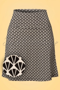 King Louie Border Skirt Cream Black Pattern 123 57 20210 20170109 0001wv