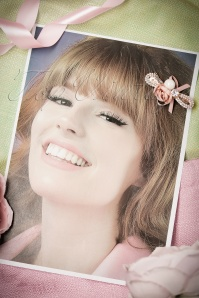 From Paris with Love Cute Pink Rose Hairclip 208 22 21019 01172017 018W