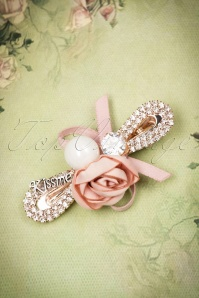 From Paris with Love Cute Pink Rose Hairclip 208 22 21019 01172017 006W