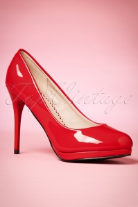Dancing Days by Banned Manhattan Pumps in Red 400 20 20511 20170116 0006w